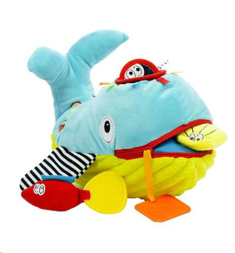 Dolce Toys - Activiteiten Knuffel - Speel En Leer Walvis