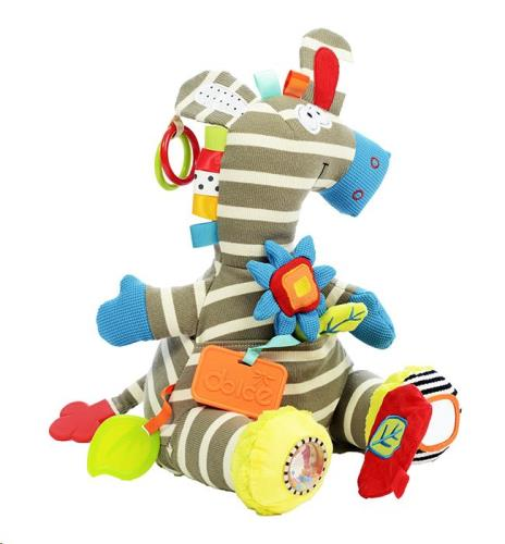 Dolce Toys - Activiteiten Knuffel - Activiteiten Zebra