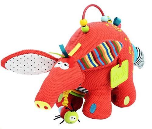 Dolce Toys - Activiteiten Knuffel - Aardvarken
