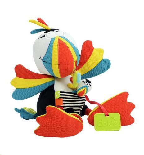 Dolce Toys - Activiteiten Knuffel - Papegaaiduiker