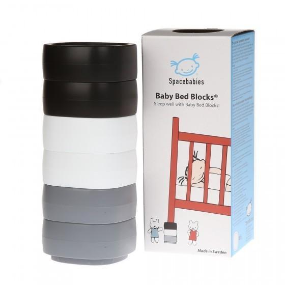 SB Baby Bed Blocks - Spacebabies Baby Bed Blocks - Zwart, wit, grijs