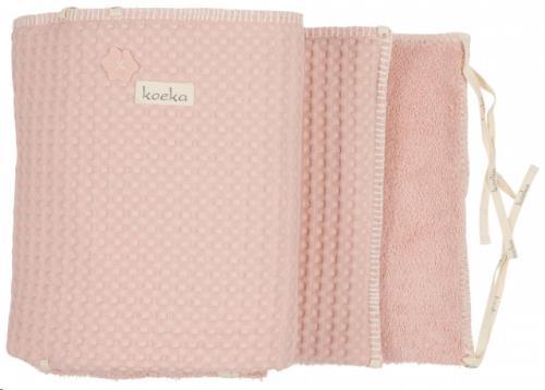 Koeka - Box-/Bedbumper Wafel Amsterdam Shadow Pink