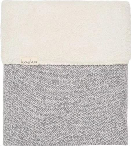 Koeka - Wiegdeken Teddy Vigo Sparkle Grey/Pebble 75X100