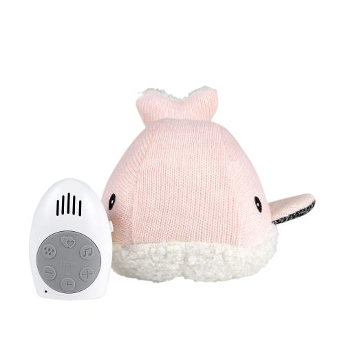 Flow - Knuffel Met Hartslag Moby The Whale - Pink