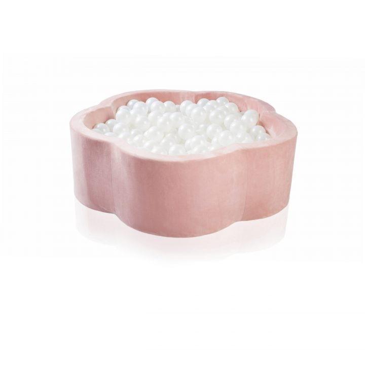kidkii - Ballenbad bloemen (200 ballen) Velvet Pink Candy 100x40