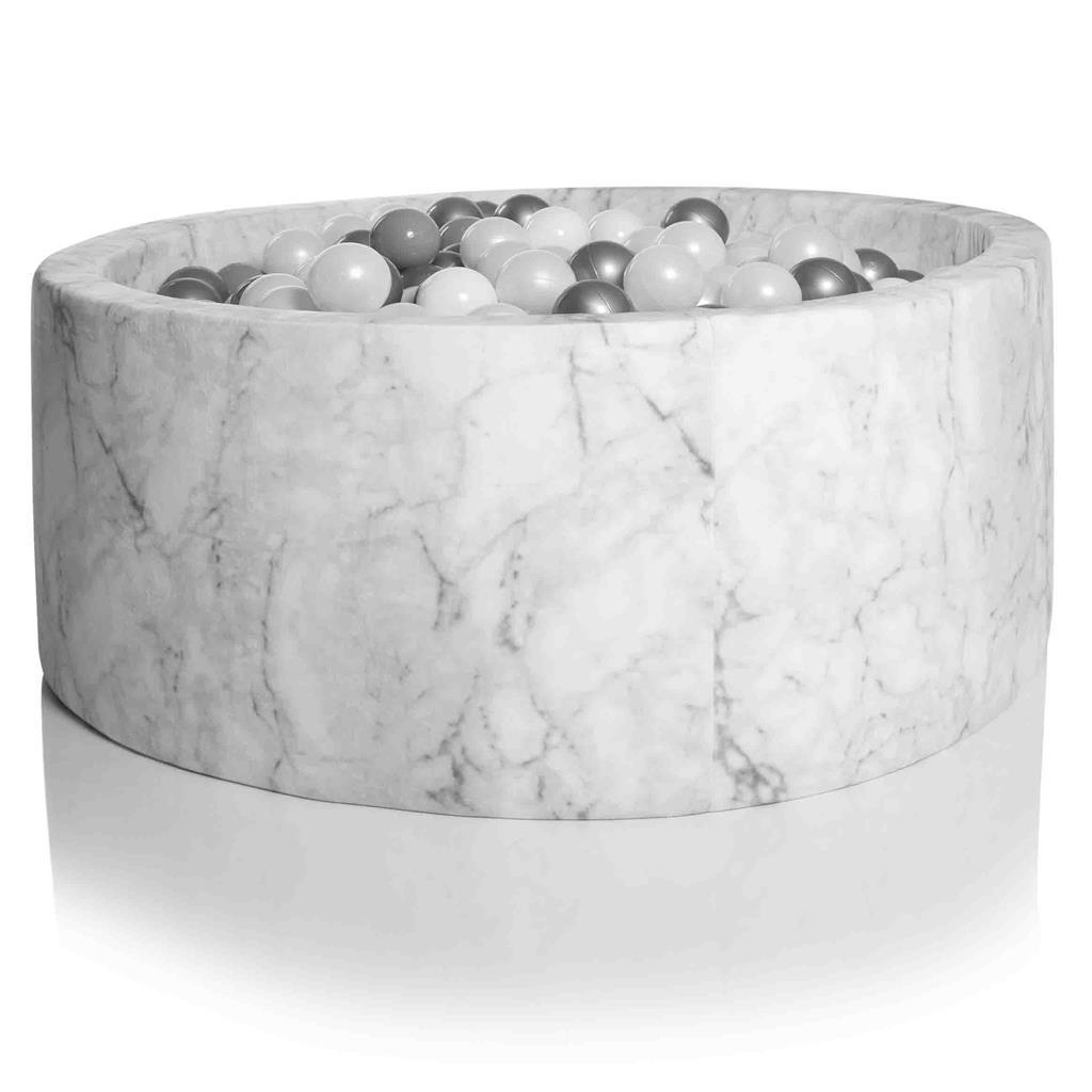 kidkii - Ballenbad rond (250 ballen) Velvet Marble 100x30