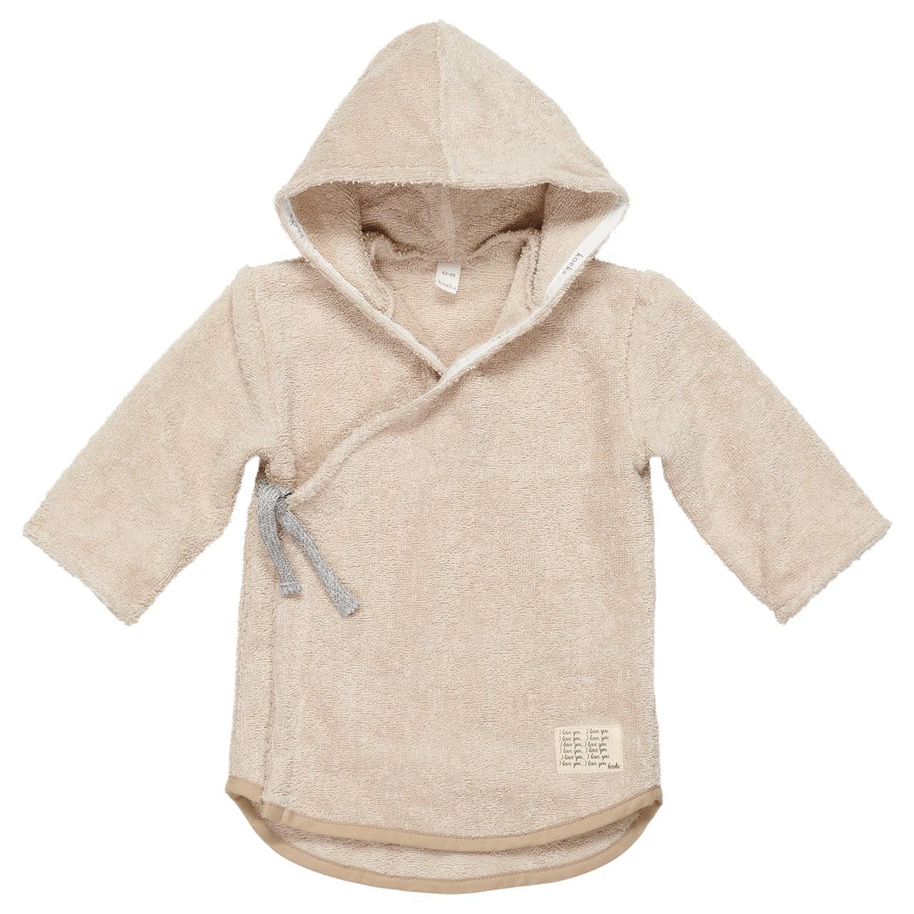 Koeka - Baby Badjas Dijon Organic Sand - 3-6M