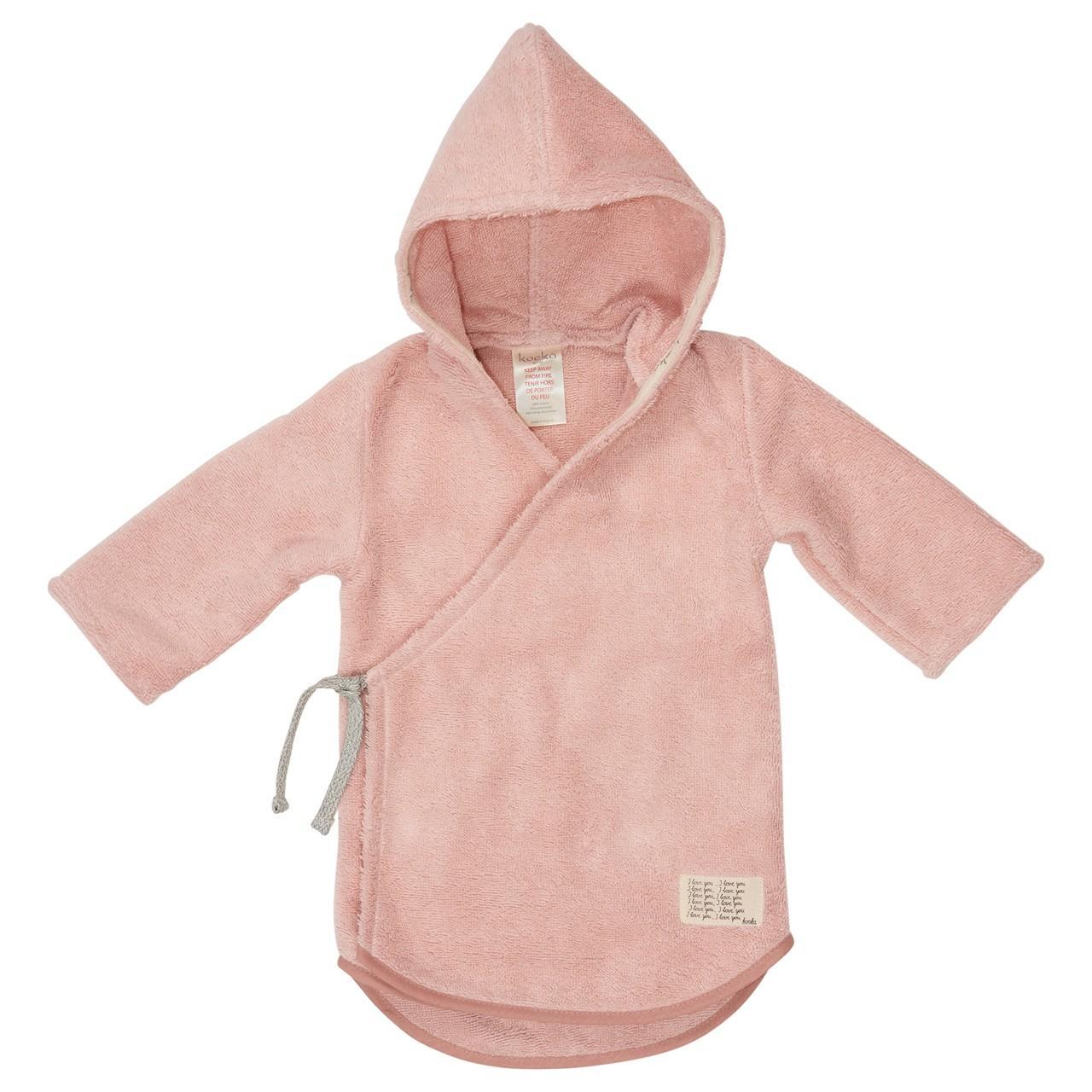 Koeka - Baby Badjas Dijon Organic Shadow Pink - 3-6M