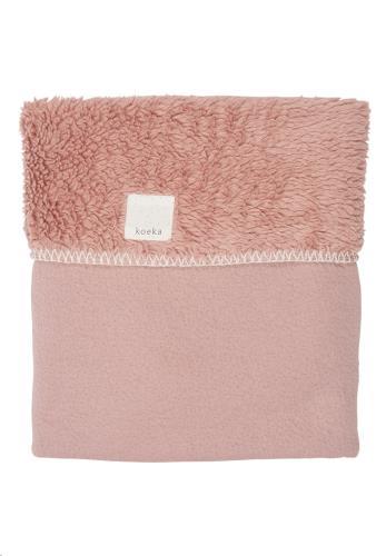 Koeka - Wiegdeken Teddy Runa Old Pink 75X100