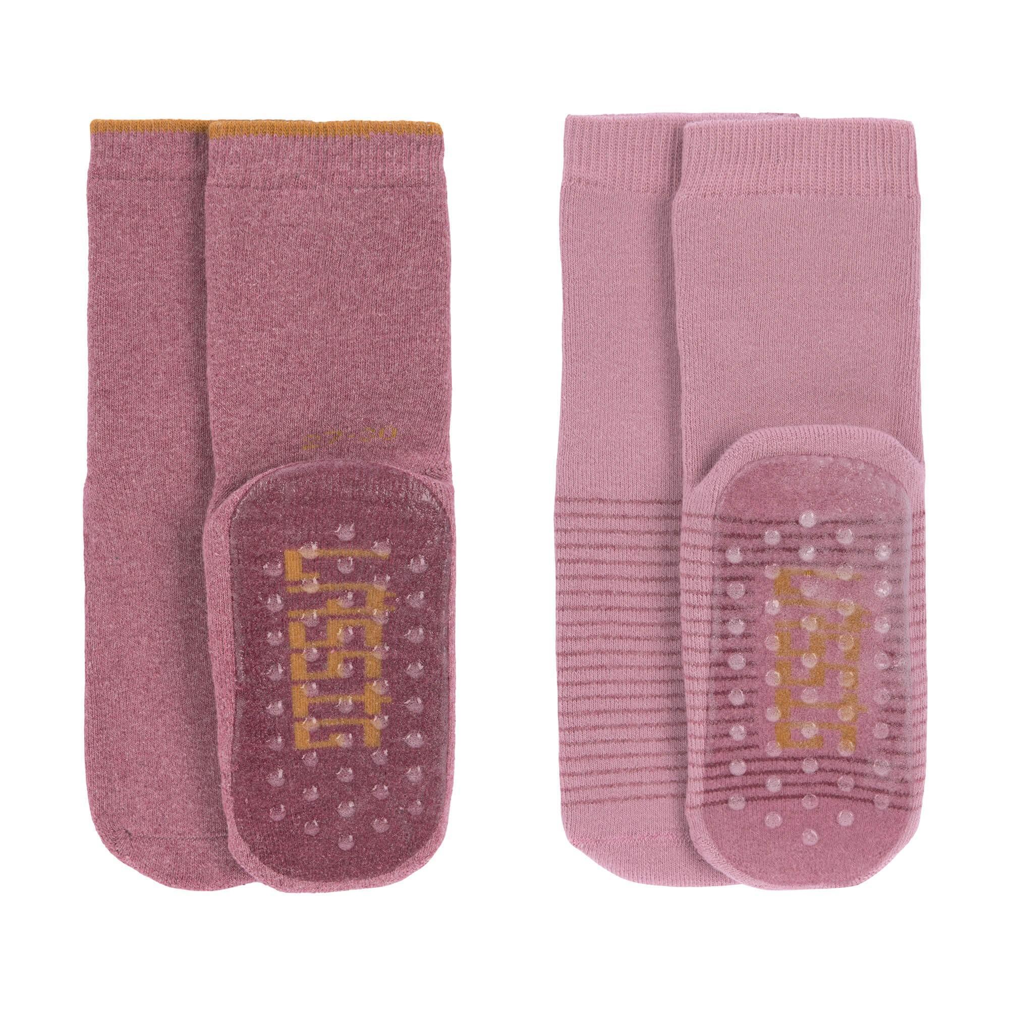 Lassig - Anti-slip Socks 2 pcs. assorted rosewood/rose, Size: 27-30