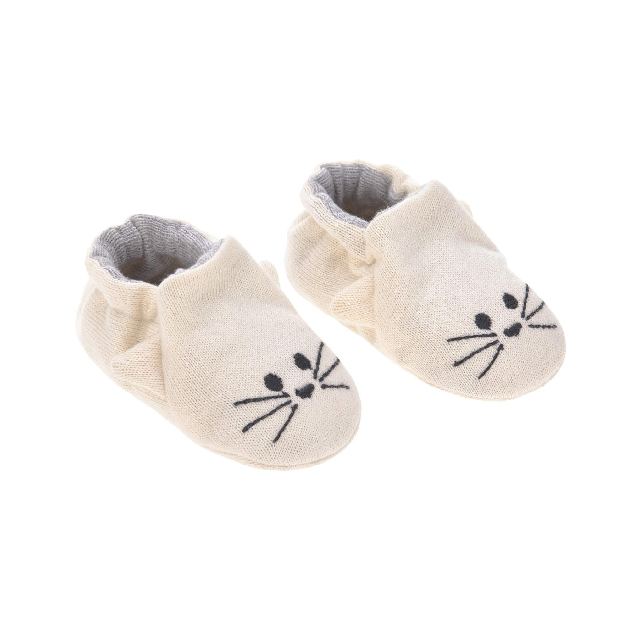 Lassig - Baby Shoes Gots Little Chums Cat, One Size