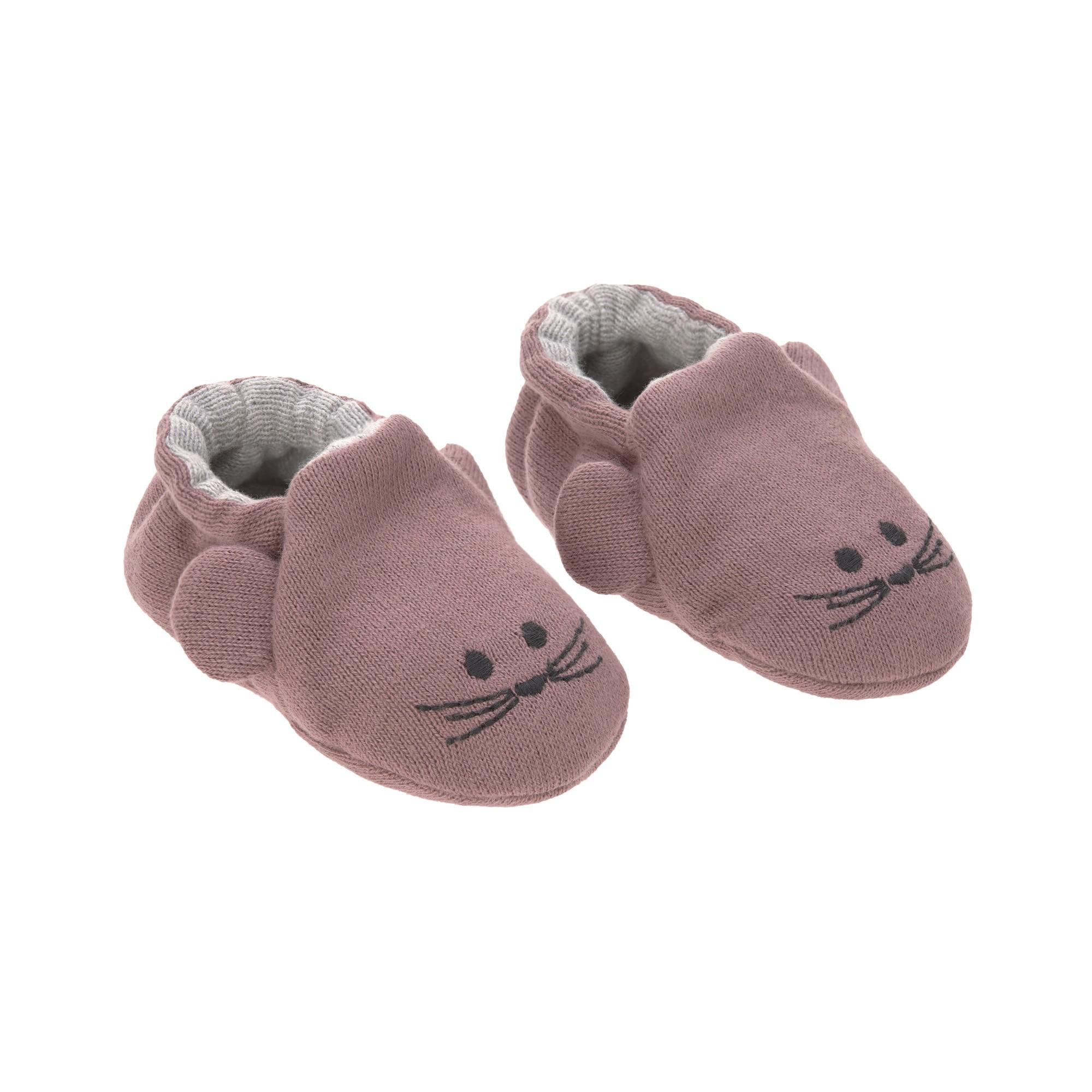 Lassig - Baby Shoes Gots Little Chums Mouse, One Size