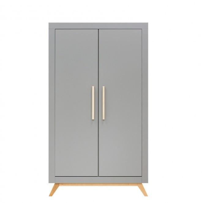 Bopita - 2-deurskast Fenna Grijs/Naturel