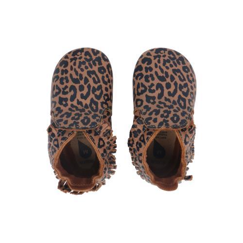 Bobux - Soft Soles - Caramel Leopard Print - L