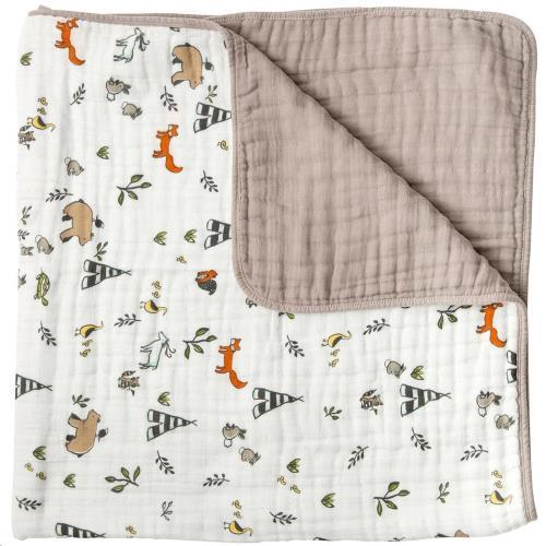 Little Unicorn - Tetra Quilt/Deken - Forest Friends - One Size