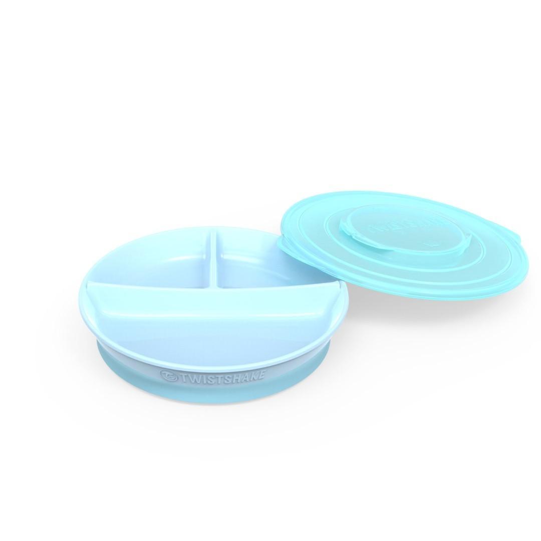 Twistshake - Bord Met Vakken Pastel Blauw