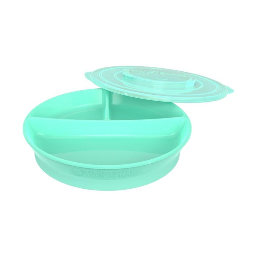 Twistshake - Bord Met Vakken Pastel Groen
