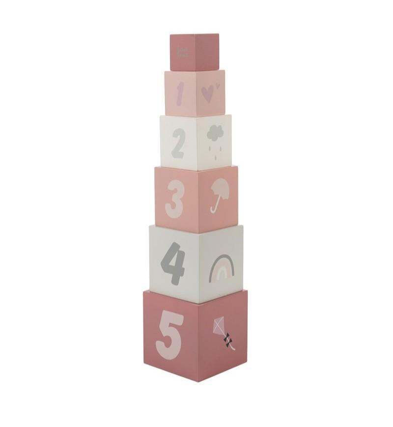 Label-Label - Stapelblokken - roze