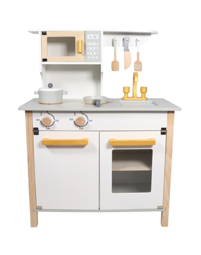 Tryco - Wooden Kitchen White & Gold