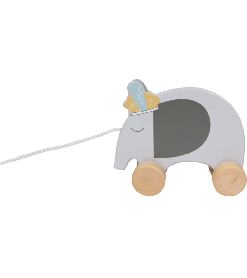 Tryco - Wooden Elephant Pull-Along Toy