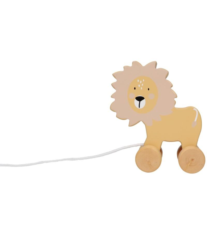Tryco - Wooden Lion Pull-Along Toy