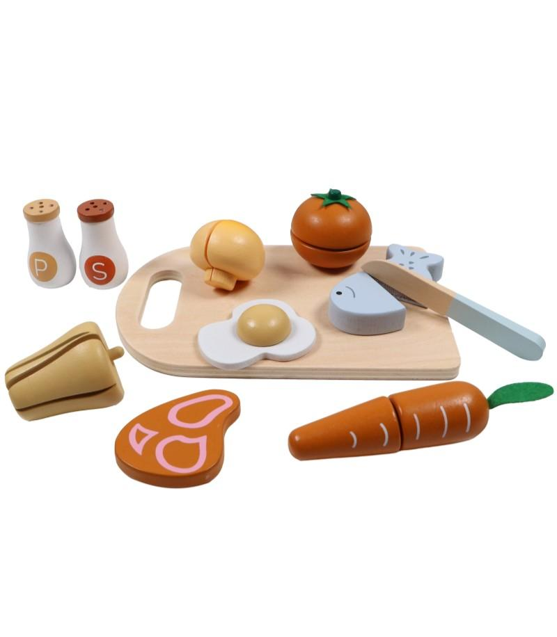 Tryco - Wooden Chopping Board With Food