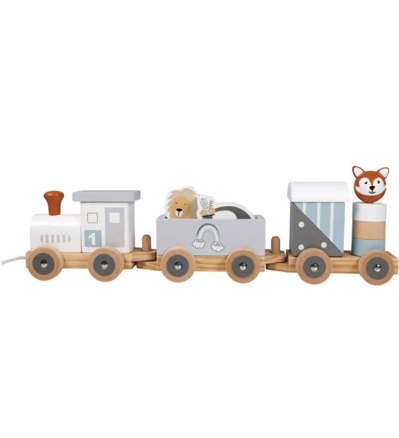 Tryco - Wooden Animal Train