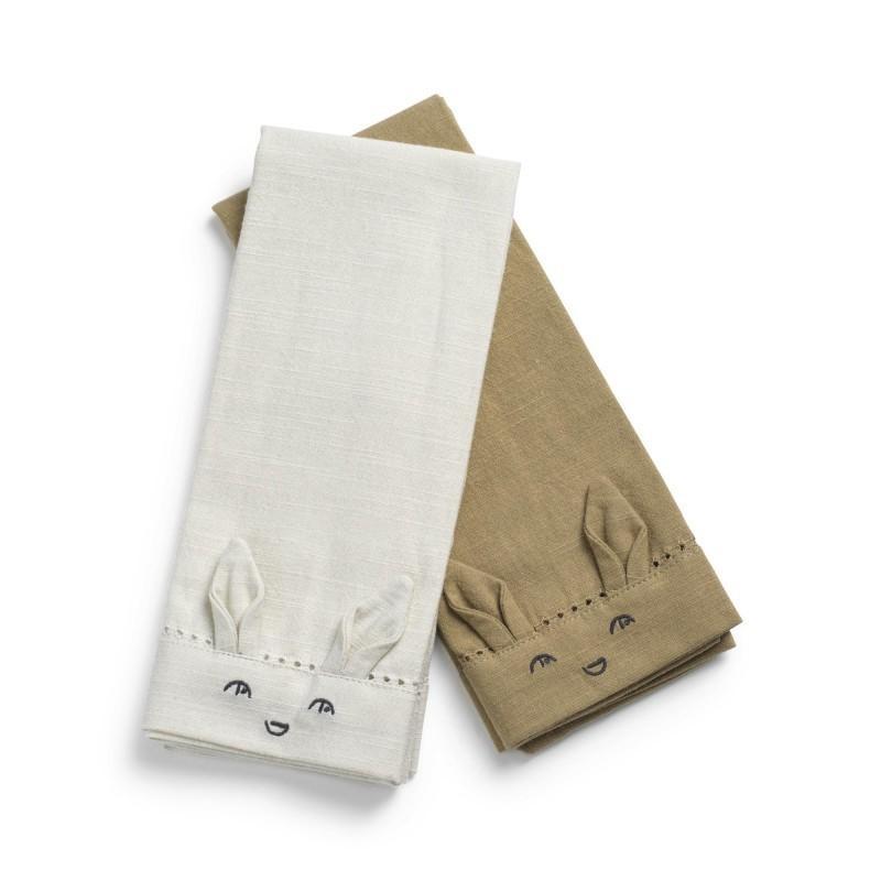 Elodie - Baby serviet set Lily White