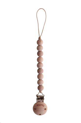 Mushie - Fopspeenketting Cleo Wood/Wood
