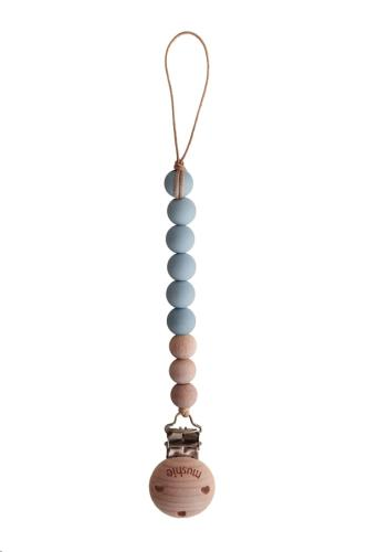 Mushie - Fopspeenketting Cleo Cloud/Wood