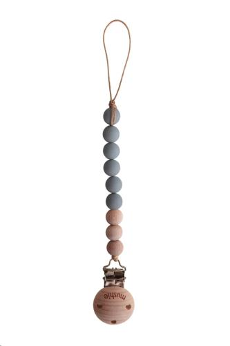 Mushie - Fopspeenketting Cleo Stone/Wood