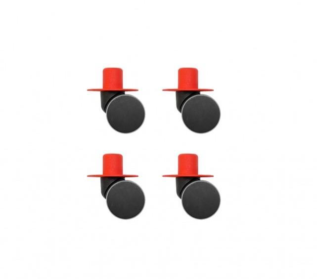 Modu - Zwenkwielen x4 Red