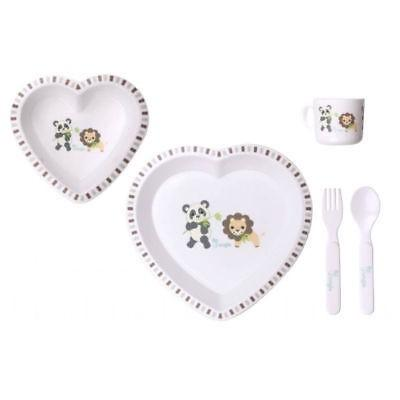 Bo Jungle - B-Dinner Set - Heart - Panda & Lion