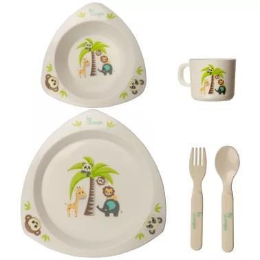Bo Jungle - B-Dinner Set Triangle - Jungle Friends