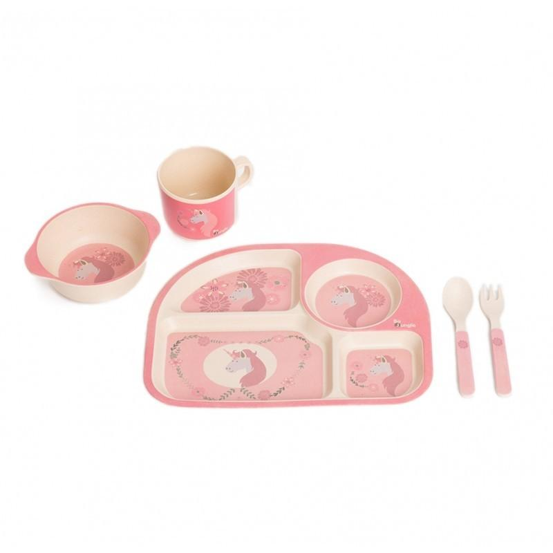 Bo Jungle - B-Corn Dinner Set Pink Unicorn
