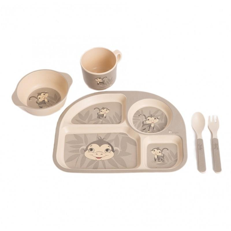 Bo Jungle - B-Corn Dinner Set Grey Monkey