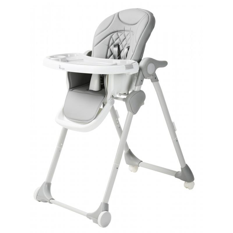 Bo Jungle - B-Dinner Chair Wheely Grey