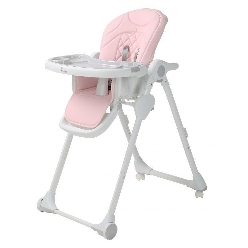 Bo Jungle - B-Dinner Chair Wheely Pink