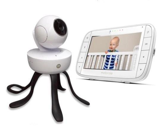 "Motorola - 5.0"""" Wifi video baby monitor pan, tilt zoom camera"