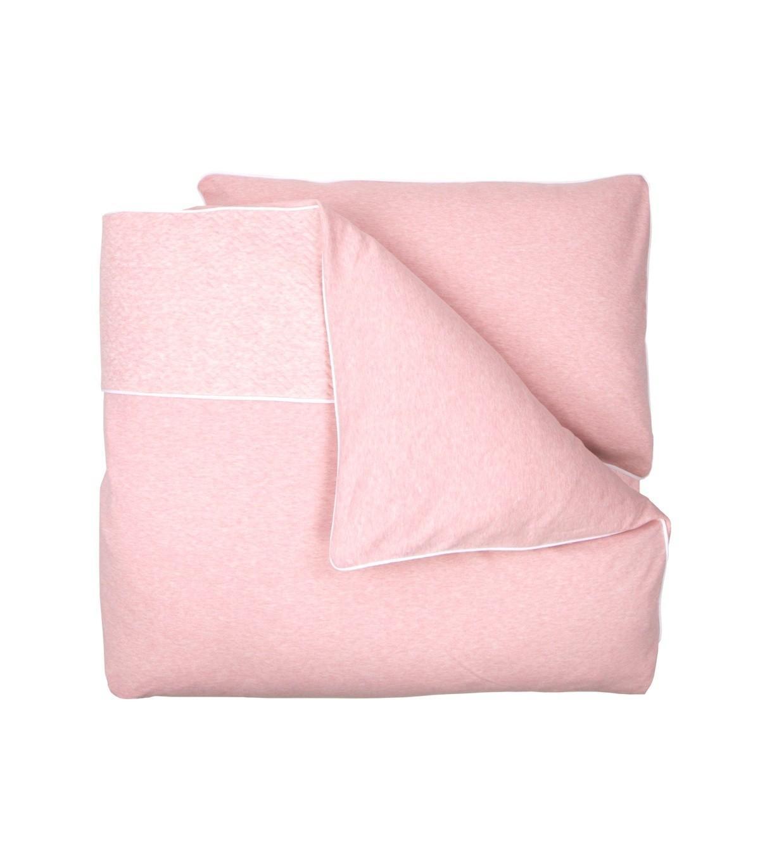 Poetree Kids - Baby Dekbedovertrek & Kussensloop (100X140) Chevron Pink Melange