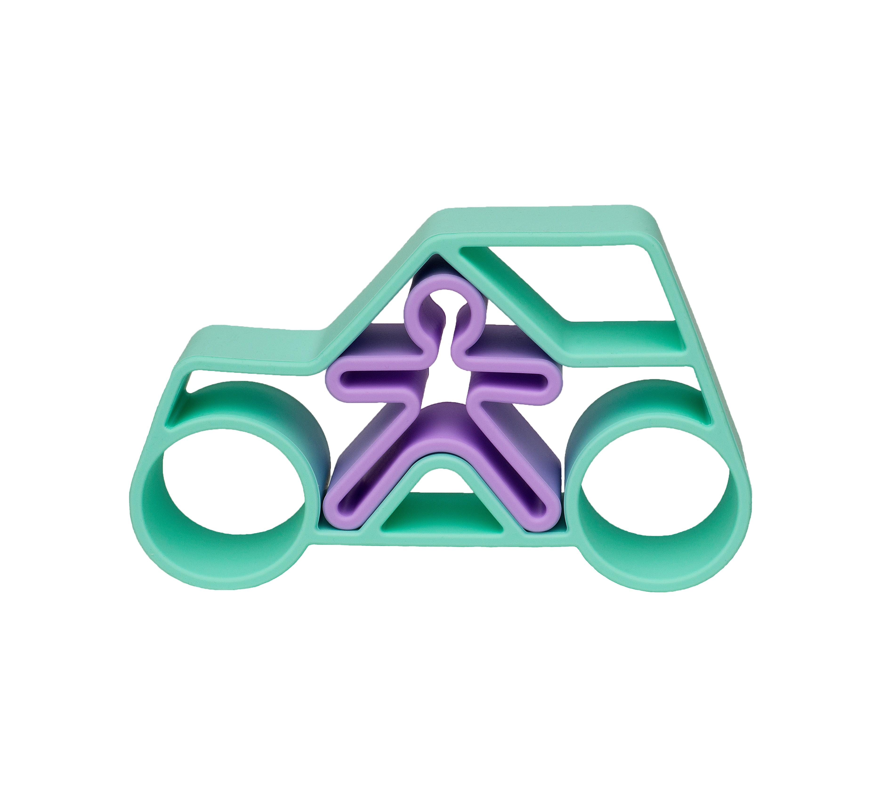 Dena - 1 Car + 1 Kid Green Pastel