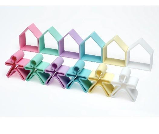 Dena - 6 Kids + 6 Houses Pastel