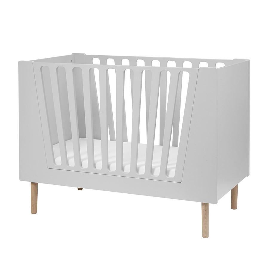 Done by Deer - Baby cot 70 x 140 cm Grey