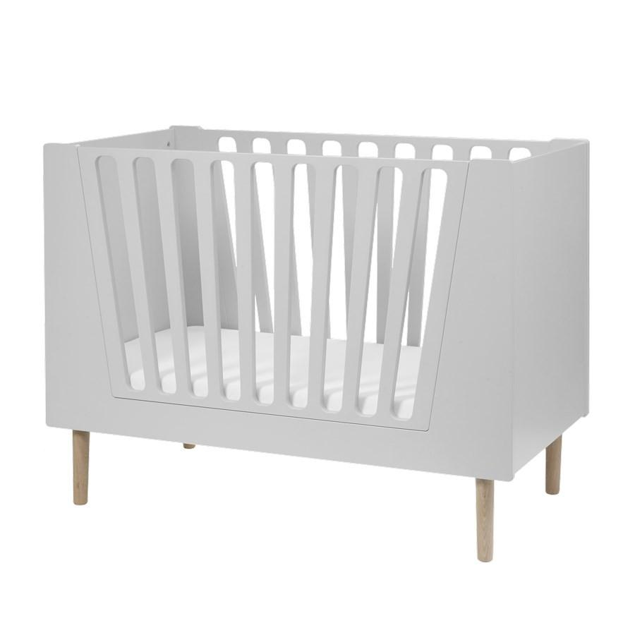 Done by Deer - Baby cot 60 x 120 cm Grey