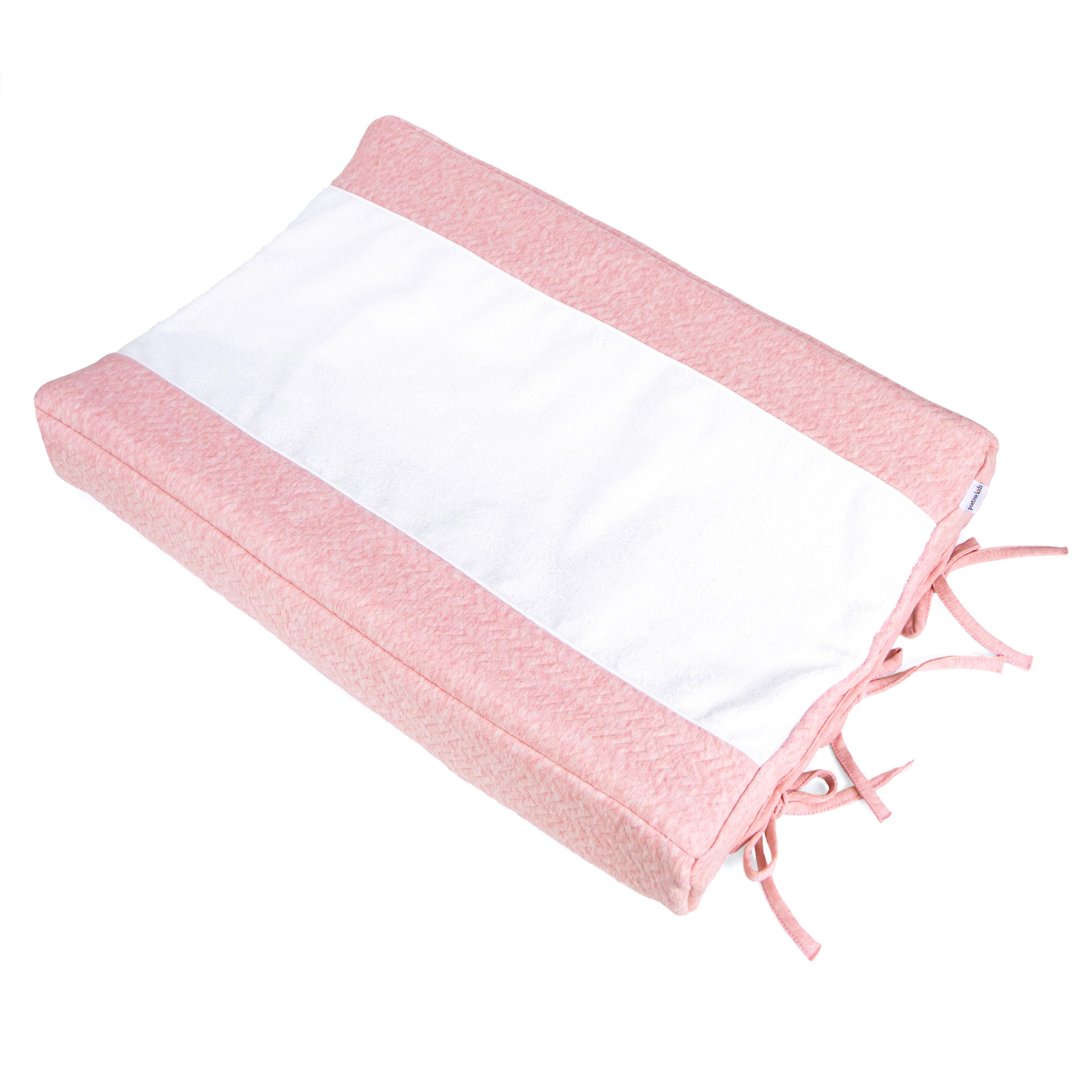 Poetree Kids - Aankleedkussenhoes Chevron Pink Melange