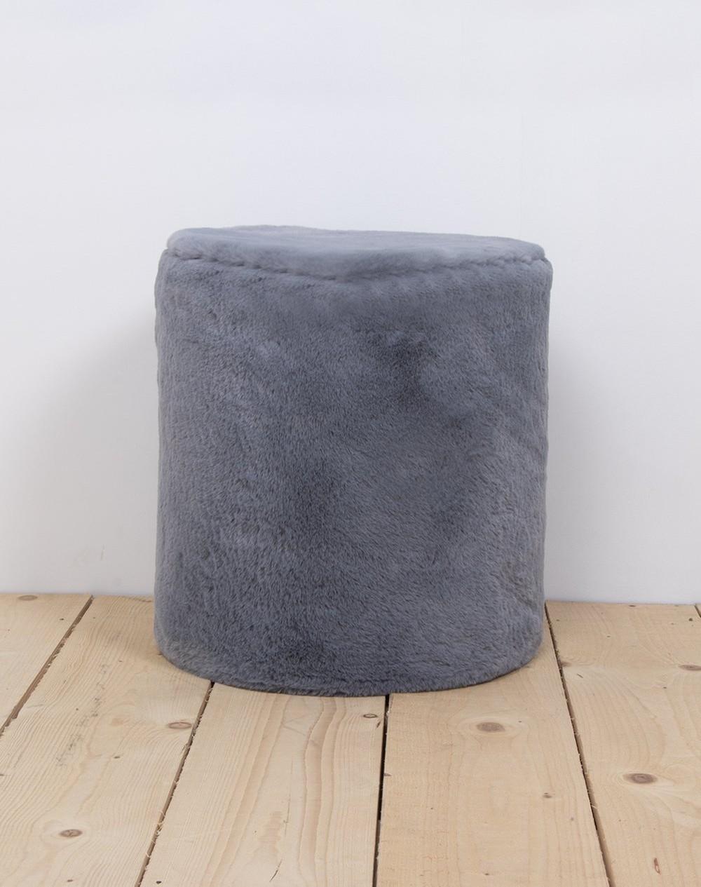 Wild & Soft - Poef medium koala grey