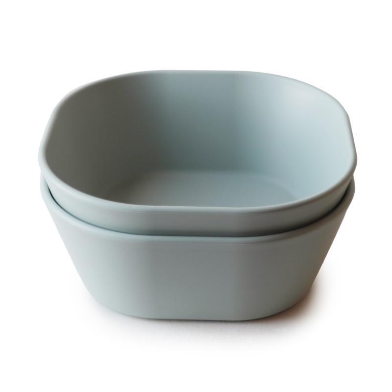 Mushie - Bowl Vierkant Sage (2 Pcs)