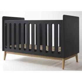 Pericles - Baby Bed 140X70Cm Style Black Omvormbaar Tot Zitbank