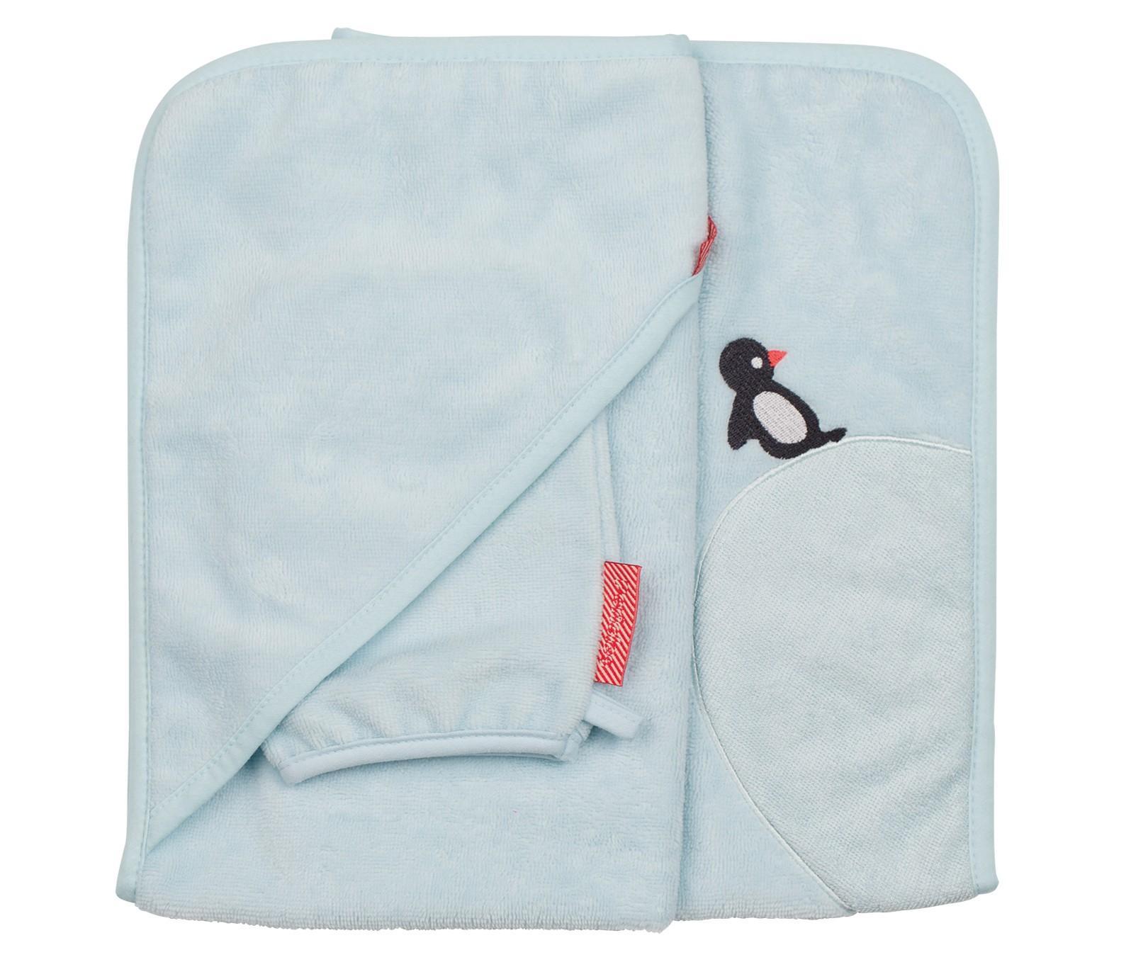 Pericles - Badcape+Washand Ocean Pinguin