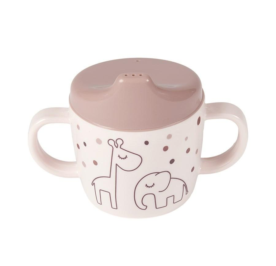 Done by Deer - 2-handle spout cup Dreamy dots Powder